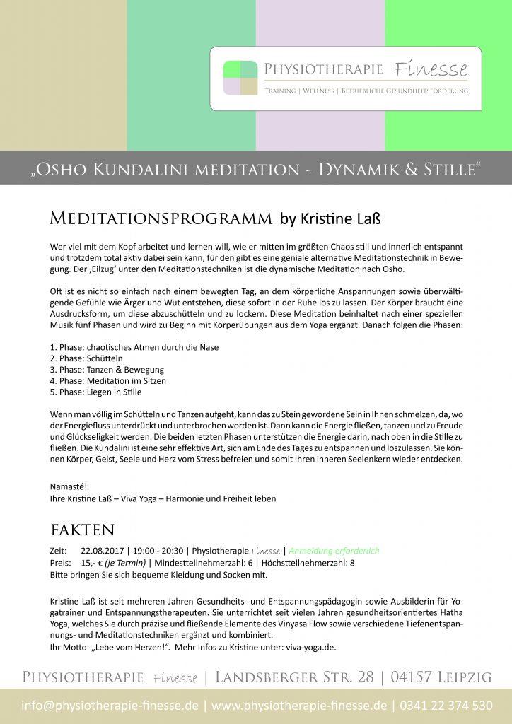 Osho Meditation_August